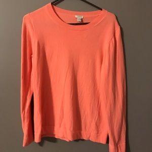 J. Crew salmon colored sweater